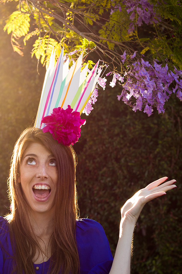 DIY fresh flower party crowns (via studiodiy.com)