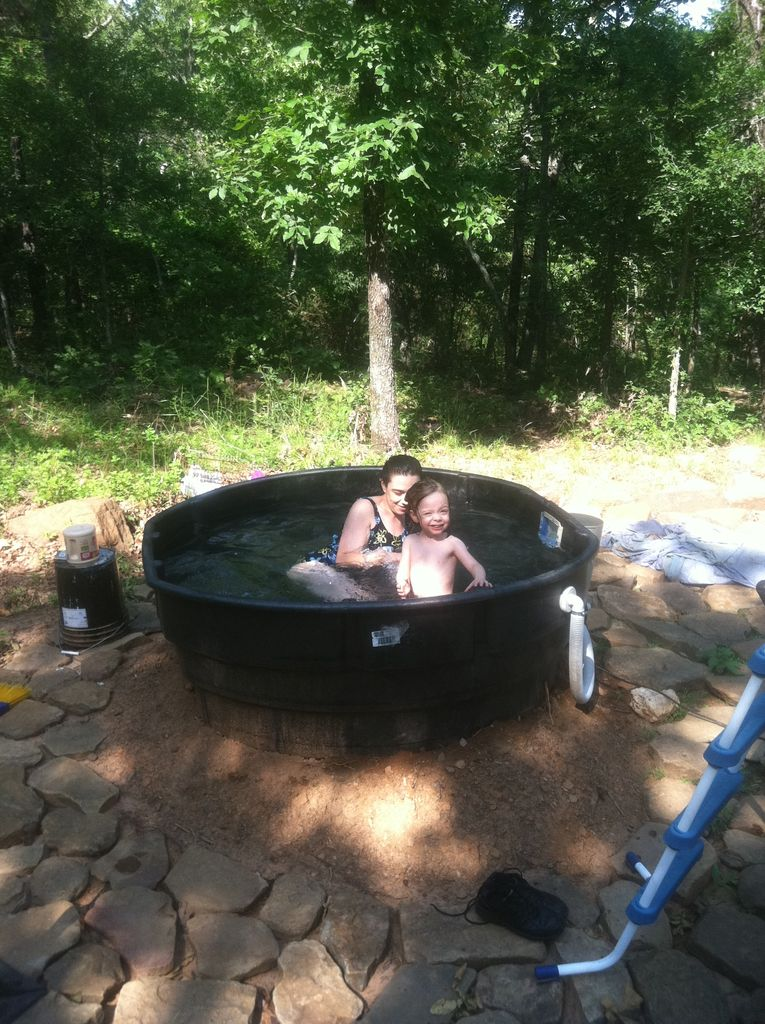 DIY redneck outdoor tub