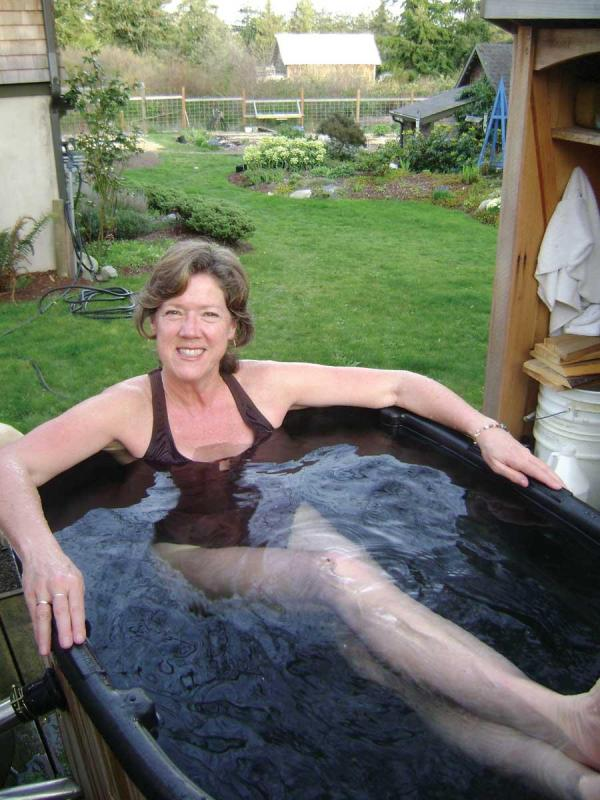 diy wood fired hot tub via