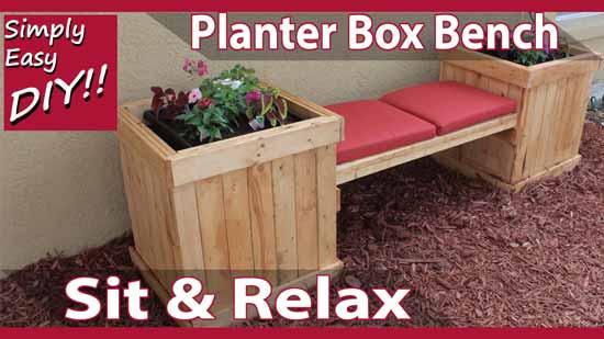 DIY planter box bench (via simplyeasydiy)