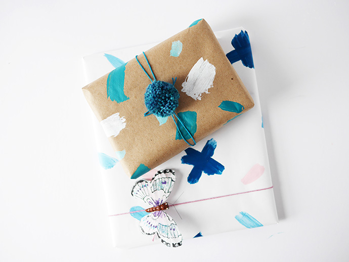 DIY painted gift wrapping paper (via handmadecharlotte)