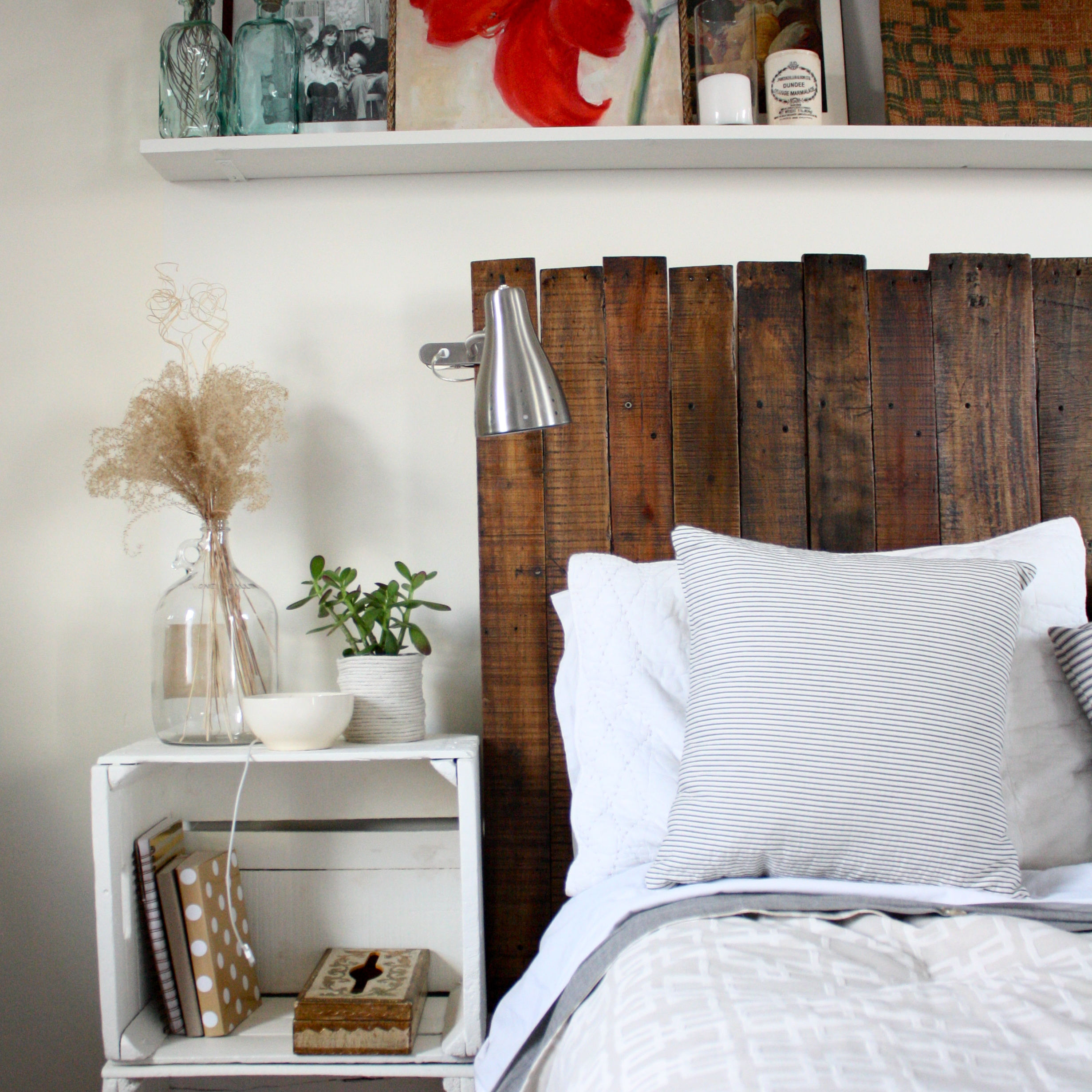 Dark Wood Headboard