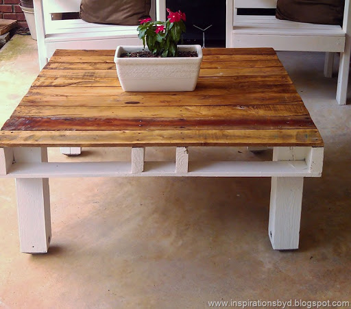 DIY Low Outdoor Pallet Table To Make Via Inspirationsbydblogspotru