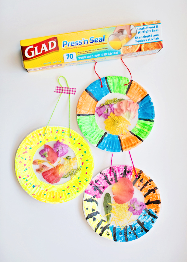 DIY suncatcher craft from paper plates (via hellowonderful)