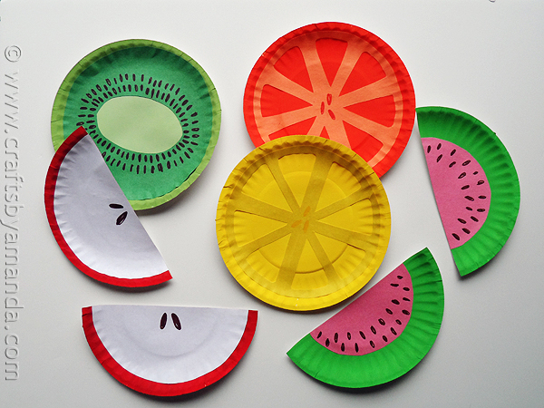DIY paper plate fruit (via craftsbyamanda)