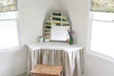 DIY corner wall-mounted vanity