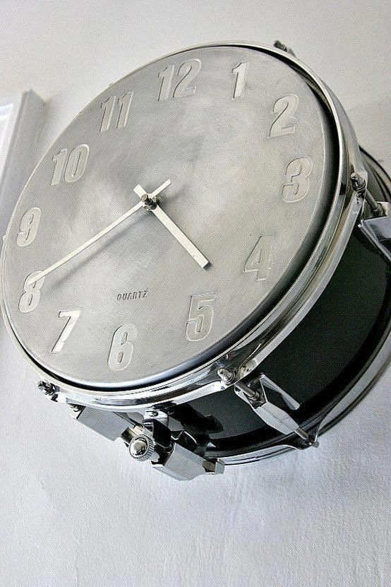 drum clock is an eye-catchy and cool idea to show your love to music