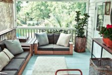 02 screneed porch with wooden furniture