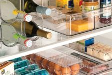 03 clear plexiglass containers for storing food