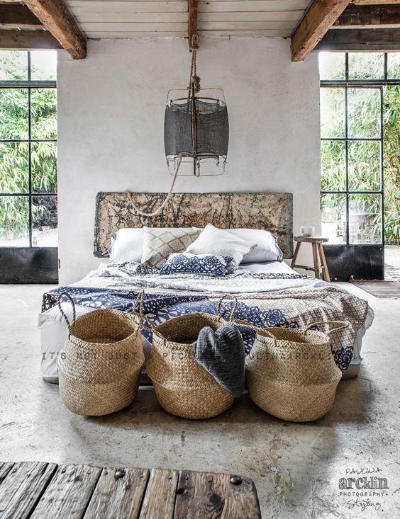 baskets with handles for bedroom storage