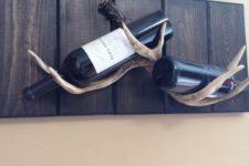 04 creative antler wine bottle rack