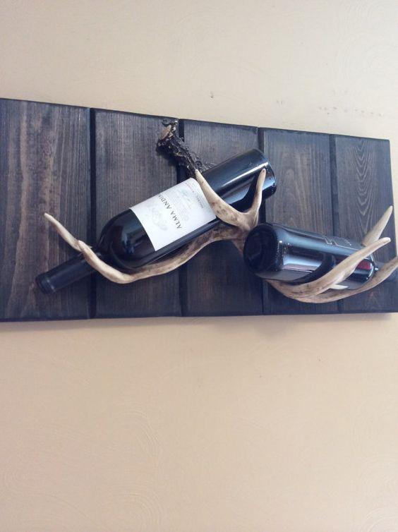 creative antler wine bottle rack