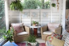04 screened porch from an old shed decorated in a relaxed style