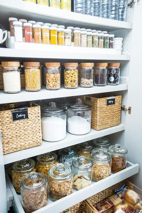 glass jars with glass lids for a refined look & 21 Jars And Containers To Organize Food In Your Pantry - Shelterness