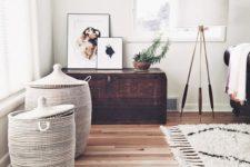 05 handmade woven storage hampers