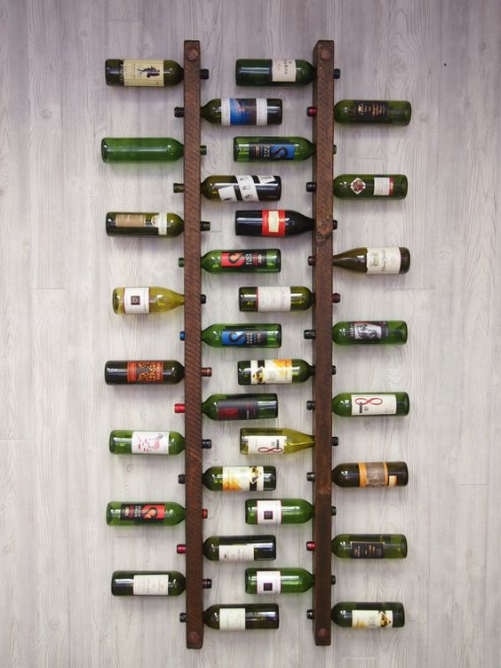 ladder bottle rack for wine storage