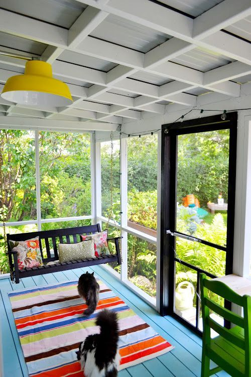 Safe Screened Porch : Screened and roofed back porch decor ideas shelterness