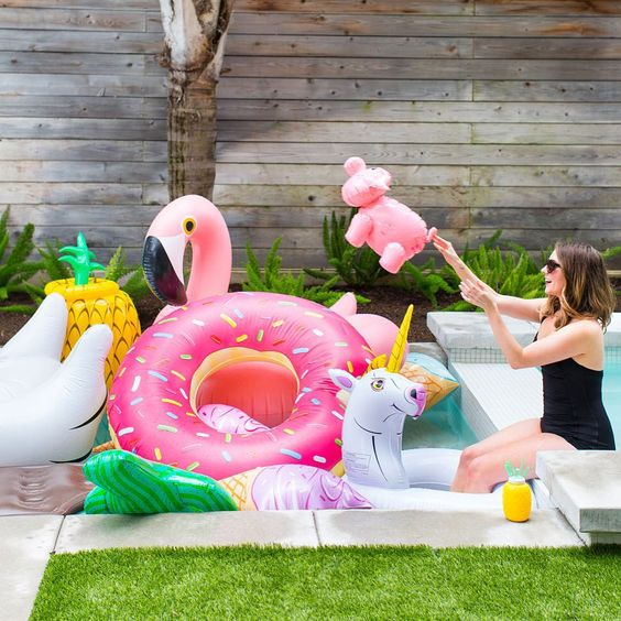 bold and fun pool floats
