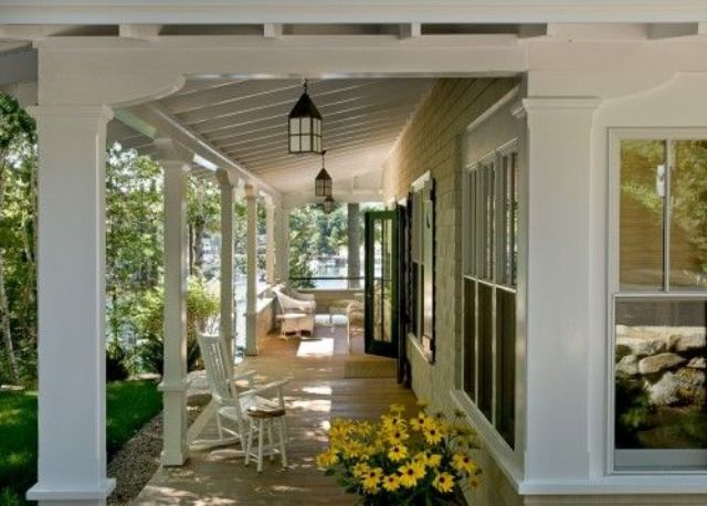 open porches help to extend the living space of your home