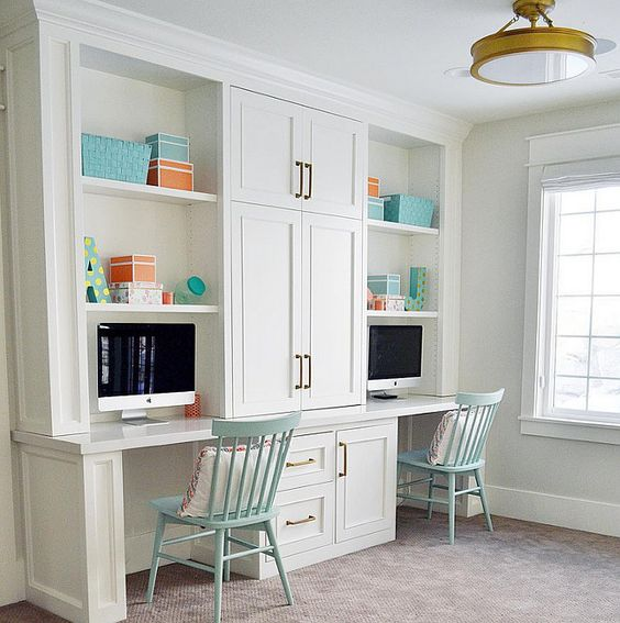 24 ways to decorate and organize a kids 39 study nook Study room wall cabinets