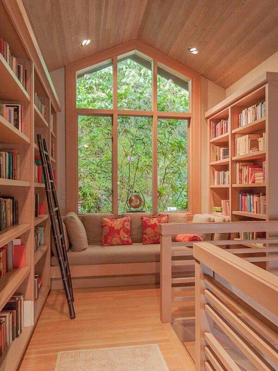 Modern Home Library Ideas: 23 Smart Ideas To Handle Attic Windows