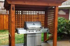 08 wooden pergola to cover a grill