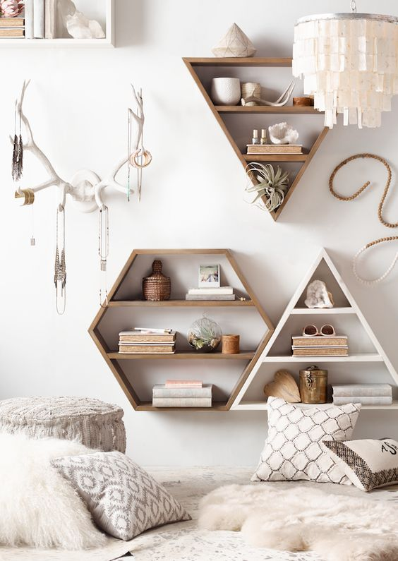 white wall-mounted jewelry hanger