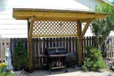 09 wooden grill pergola