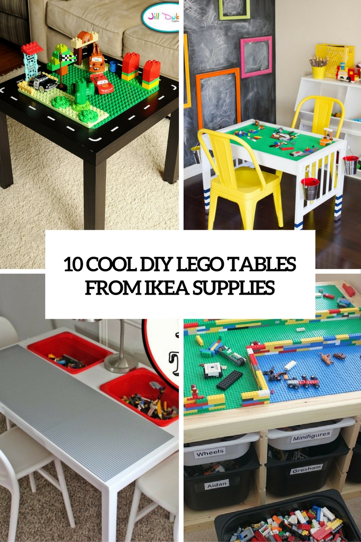 10 cool diy lego tables from ikea supplies shelterness for Ikea lack lego table