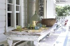 10 shabby chic dining area on the porch