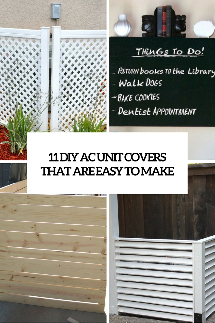 11 DIY AC Unit Covers That Are Easy To Make - Shelterness