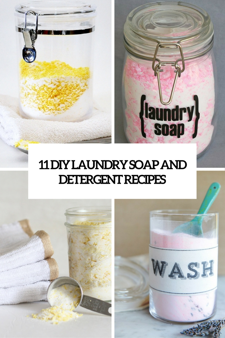 11 DIY Laundry Soap And Detergent Recipes