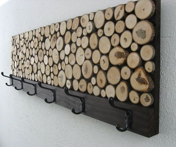 maple wood slice coat rack is great for any entryway