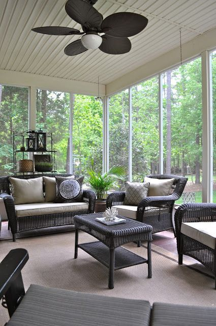 27 screened and roofed back porch decor ideas shelterness - Screened porch furniture ideas ...