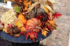 a fall arrangement