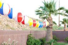 12 beach balls garland