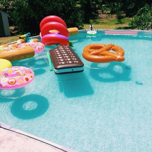 large dessert pool floats