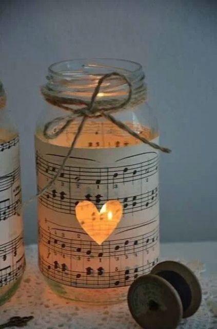 note paper lantern decor