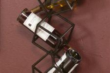12 wall-mounted wine rack of metal boxes