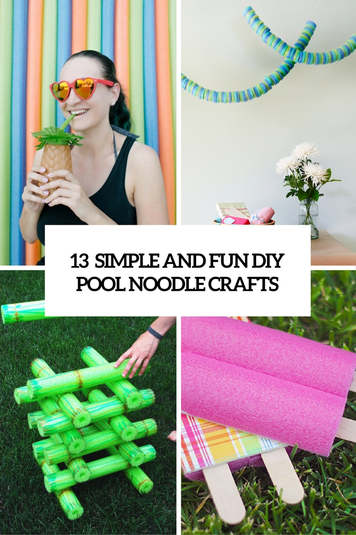 simple and funny diy pool noodle crafts cover