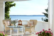 14 beachside netural-colored porch with potted flowers