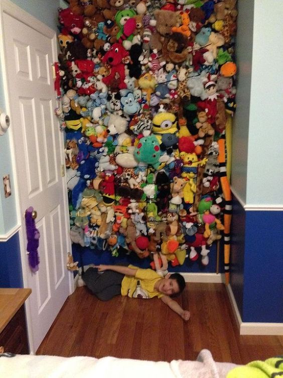cargo net stuffed animals storage