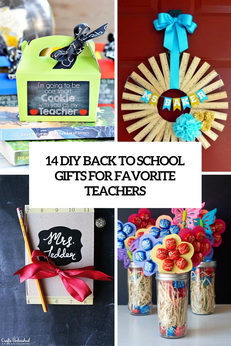 14 DIY Back To School Gifts For Favorite Teachers