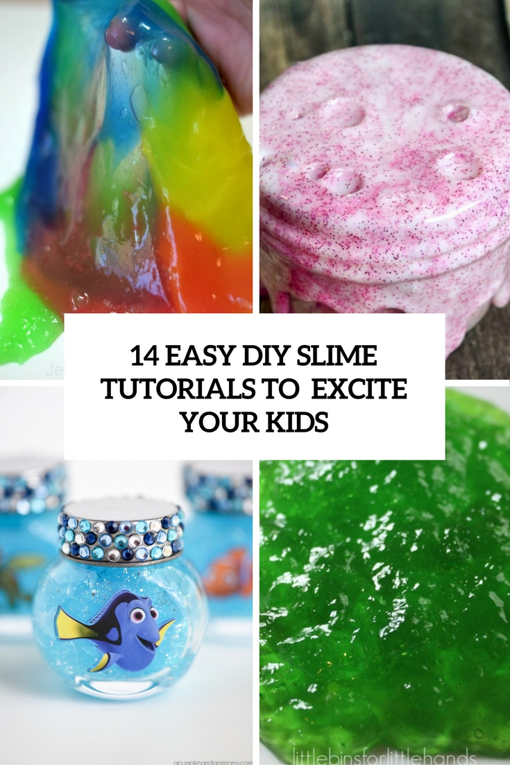 easy diy slime tutorials to excite your kids cover