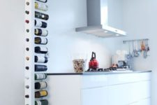14 minimalist vertical bottle holder is suitable even for a tiny kitchen