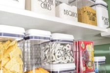 15 plastic storage containers for dry foods