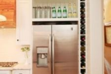 15 side wine bottle shelf is ideal for small kitchens