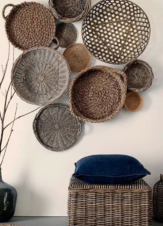 basket accent wall