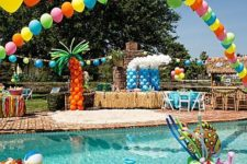 16 colorful balloon and mermaid-themed pool floats