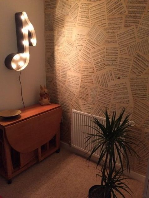 note wall lamp